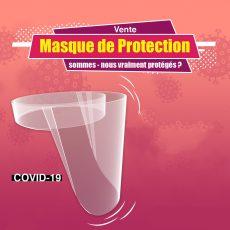 Visiere de Protection contre le corona virus