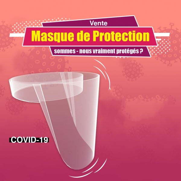 Visiere de Protection contre le corona virus