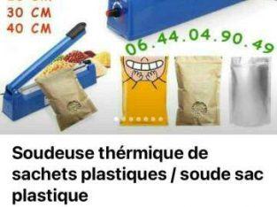 MACHINE SOUDEUSE  / SOUDE SACHETS PLASTIQUES