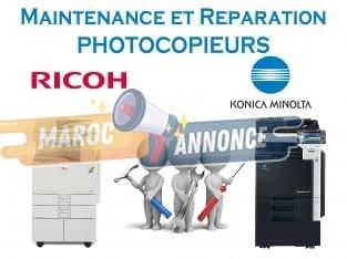Entretien et réparation photocopieurs