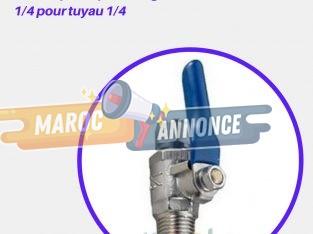 Vanne Sphérique Filetage 1/4 Pour Tuyau 1/4