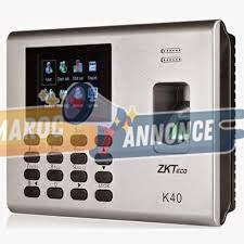 Pointeuse biométrique à empreinte digitale et badges K40